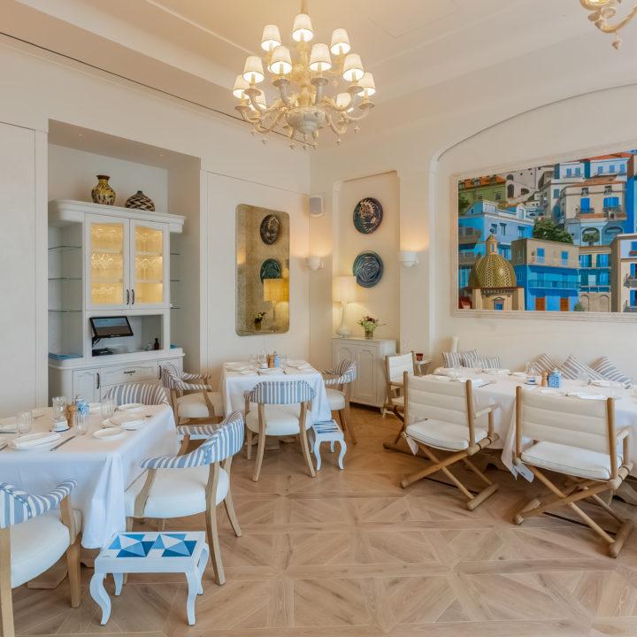 Dalle chêne verni blanchi - Dubaï restaurant 2